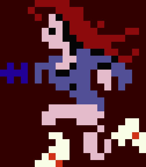 Samus as redhead.